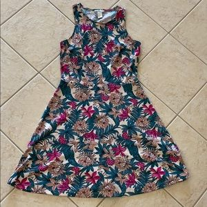 Floral print semi fancy dress